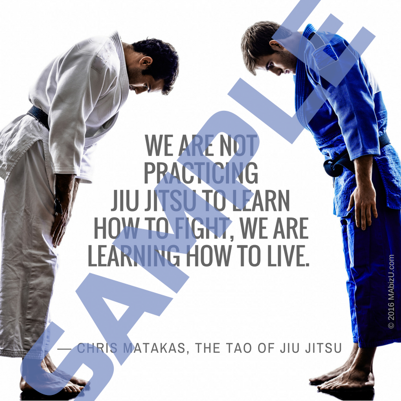 social media marketing for martial art schools sample
